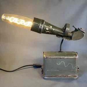 Vintage Scope on Theodolite Case Upcycled Lamp