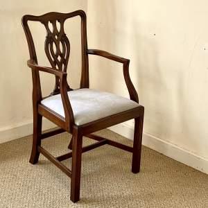 20th Century Mahogany Open Armchair