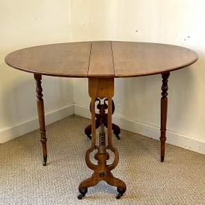 19th Century Walnut Sutherland Table