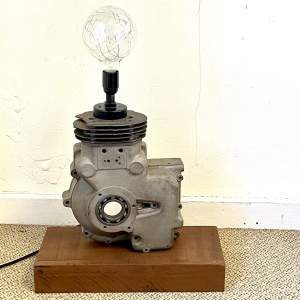 Vintage Engine Casing Upcycled Lamp