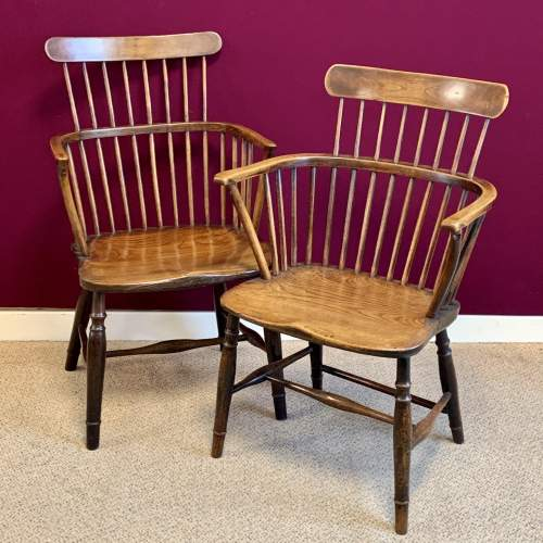 Harlequin Set of Five Victorian Windsor Comb Back Chairs image-2