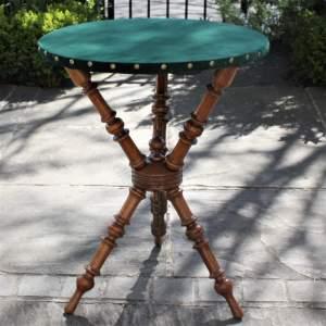 Elegant Victorian Velvet Topped Gypsy Table