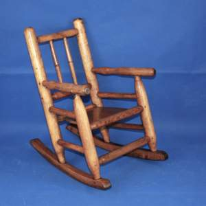 Childs 19th Century Ash and Elm Rocking Chair
