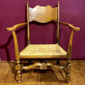 Victorian Arts and Crafts Open Armchair