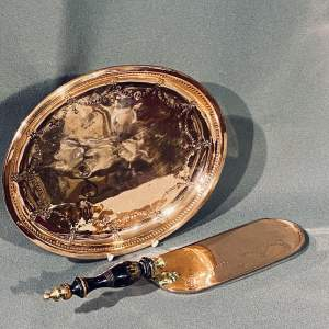 Henry Loveridge and Co Copper Crumb Scoop and Tray
