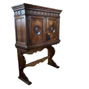17th - 18th Century Italian Walnut Cabinet on Stand