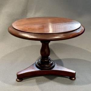 Unusual Regency Miniature Mahogany Tilt Top Table