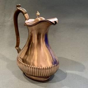 Georgian Seamed Copper Coffee Pot