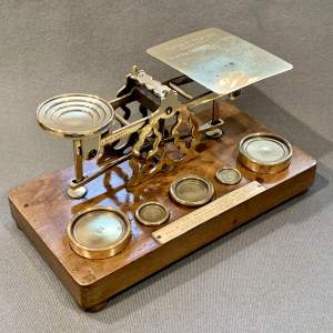Victorian Brass Postal Scales by Sampson Mordan and Co