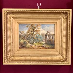 19th Century Original George Turner Landscape Oil on Canvas