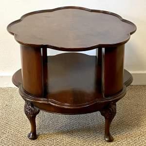 Revolving Mahogany Bookcase Table