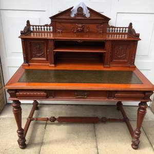 Large Solid Mahogany Estate Desk
