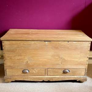 Victorian Low Pine Mule Chest