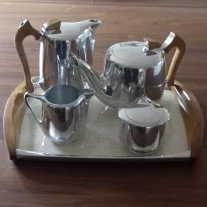 Five Piece Picquot Ware Retro Tea Service