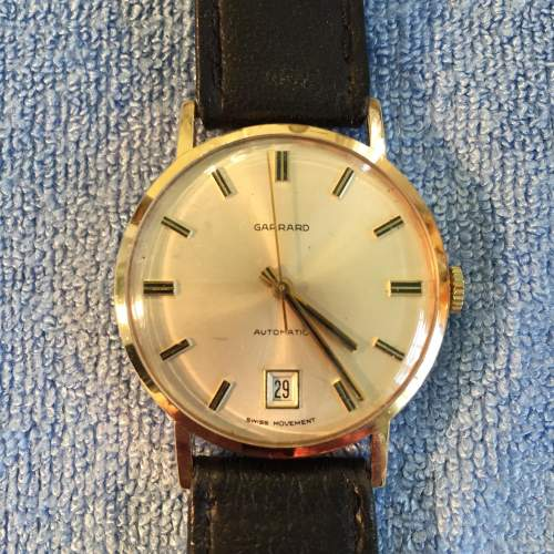Garrard 9ct Gold Automatic Gents Wristwatch with Date image-1