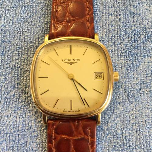Gents Gold Plated Manual Wind Wristwatch By Longines image-1