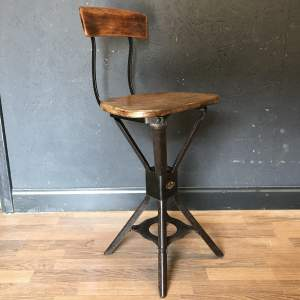 Stunning Vintage Machinists Engineers Chair by Evertaut