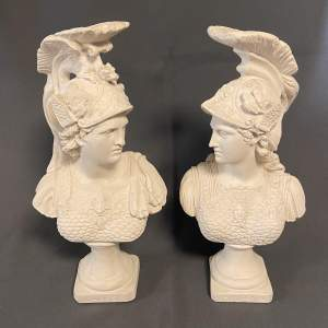 Pair of Late 19th Century Mars and Minerva Parian Ware Figurines