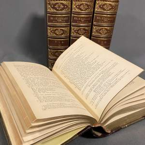 19th Century Four Volume Set Complete Works of Shakespeare