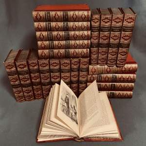 19th Century 22 Volumes of The Works of Thackery