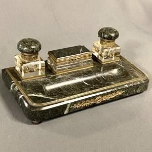 19th Century Marble Desk Set