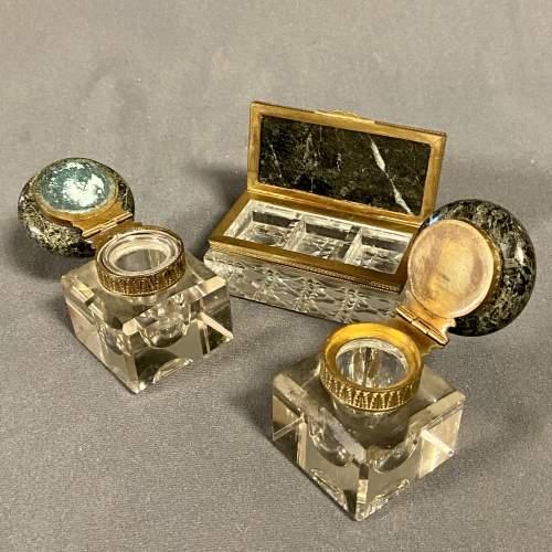 19th Century Marble Desk Set image-5