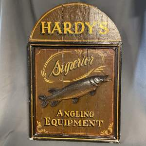 Late 19th Century Hardys Superior Angling Equipment Sign