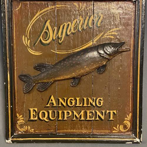 Late 19th Century Hardys Superior Angling Equipment Sign image-3