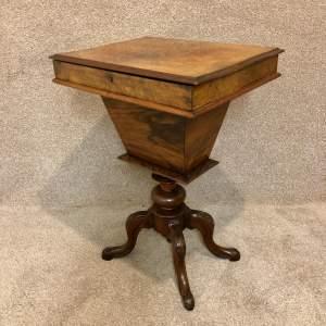19th Century Walnut Work Table
