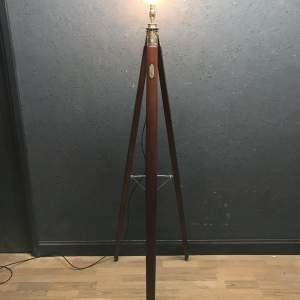 Beautiful Floor Standing Theodolite Tripod Lamp by J Halden and Co