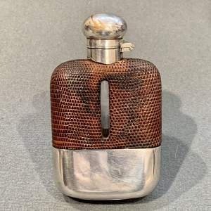 Vintage Silver Plated Glass Hip Flask