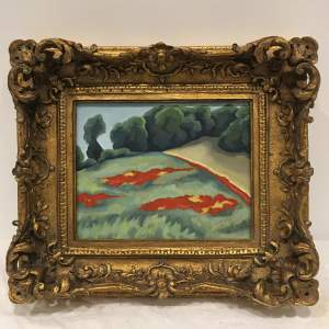 Margot Hutcheson 20th Century Landscape Painting Acrylic on Canvas Boar