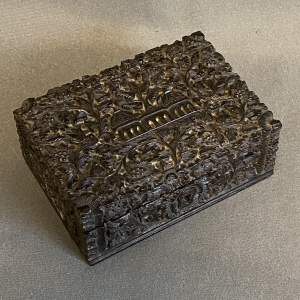 Carved Indian Hardwood Box