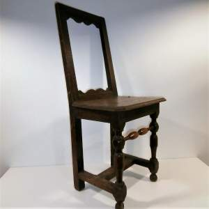 A Very Fine Early 18th Century Small Oak Chair