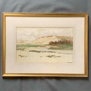 William Parkyn Watercolour Painting At Sennen Cornwall
