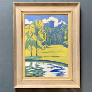 Ethel Kathleen Cole Gouache on Board Painting Windsor
