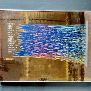 Shusaku Arakawa Screen Print on Gold Foil Look At It