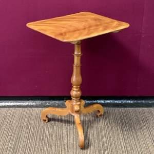 Victorian Flame Veneered Tilt Top Table