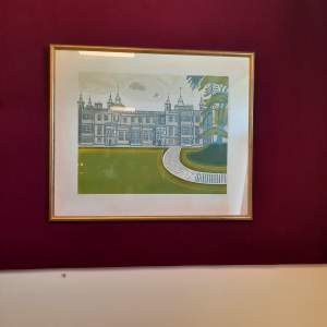Edward Bawden Linocut - Audley End House - Signed Dated and Numbered