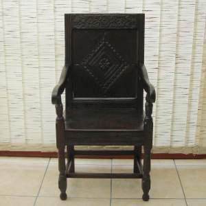17th Century Northumberland Wainscot Oak Chair