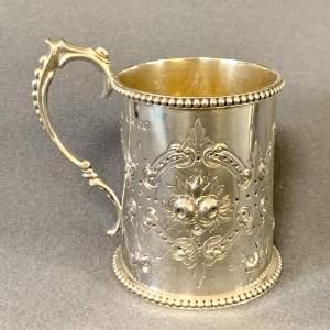 19th Century Silver Tankard