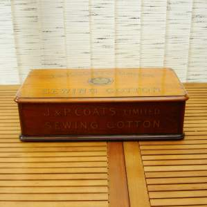 J and P Coates Sewing Cotton Display Box