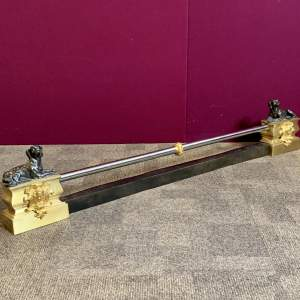 Early 20th Century Adjustable Fender With Bronze Hounds