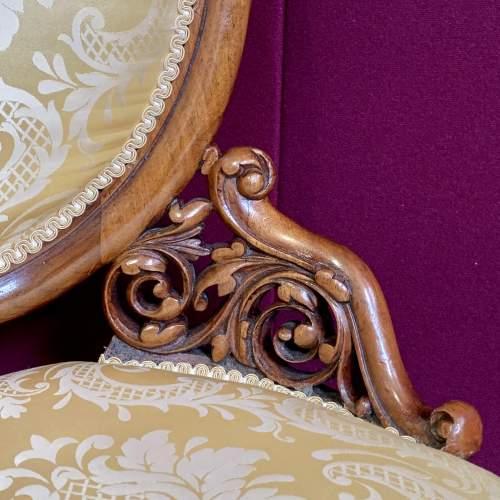 Fine 19th Century Walnut Adjustable Harpist Chair image-5