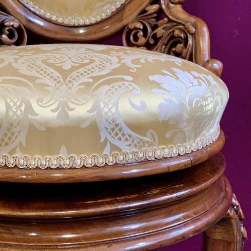 Fine 19th Century Walnut Adjustable Harpist Chair image-6
