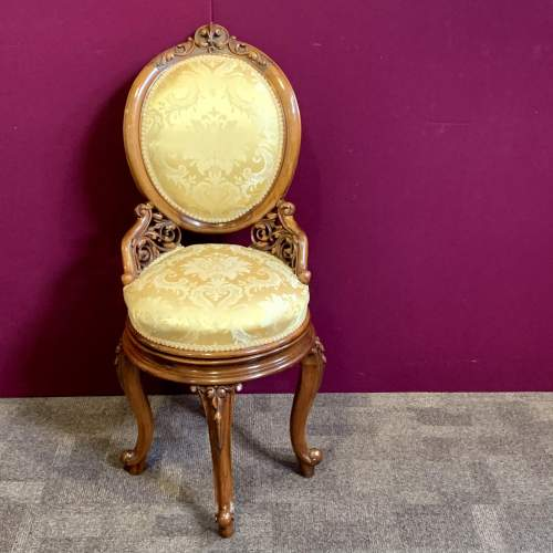 Fine 19th Century Walnut Adjustable Harpist Chair image-2