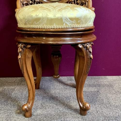 Fine 19th Century Walnut Adjustable Harpist Chair image-3