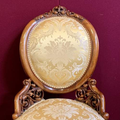 Fine 19th Century Walnut Adjustable Harpist Chair image-4