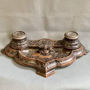 Quality 19th Century Bronze Desk Stand