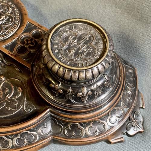 Quality 19th Century Bronze Desk Stand image-3